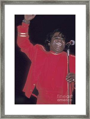James Brown Framed Print by Concert Photos