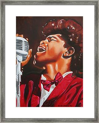 James Brown King Of Soul Framed Print