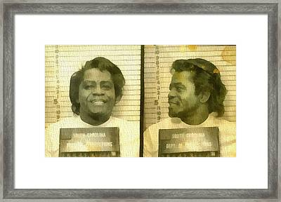 James Brown Mug Shot Framed Print by Dan Sproul