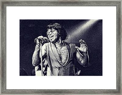 James Brown On Stage Framed Print by Maciek Froncisz