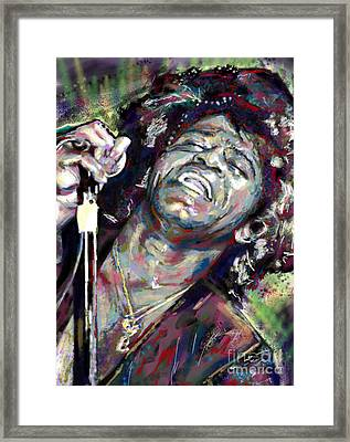 James Brown Painting Framed Print