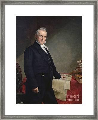 James Buchanan Framed Print by GPA Healy