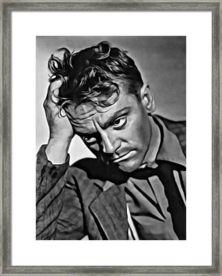 James Cagney Portrait Framed Print by Florian Rodarte