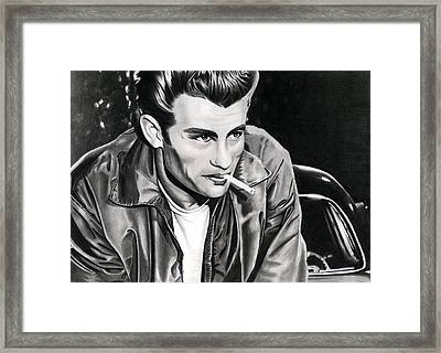 James Dean Framed Print by Cool Canvas