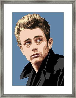 James Dean In Color Framed Print