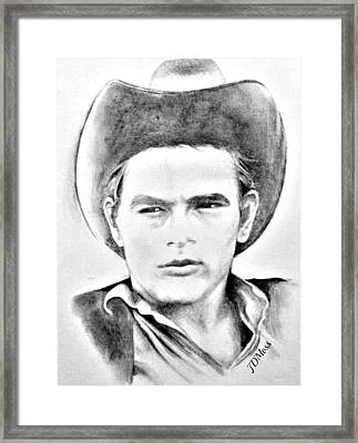 James Dean Framed Print by Janet Moss
