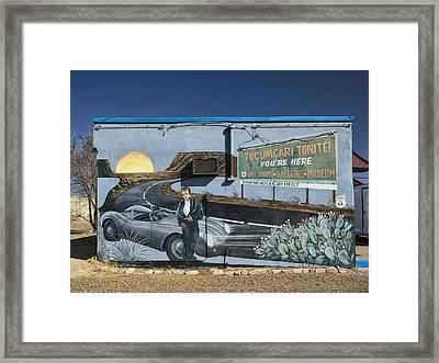 James Dean Mural In Tucumcari On Route 66 Framed Print by Carol Leigh