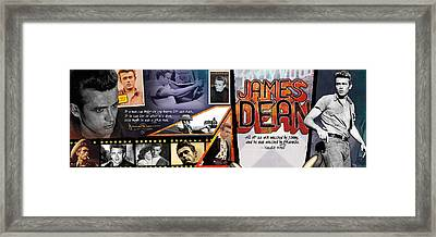 James Dean Panoramic Framed Print by Retro Images Archive