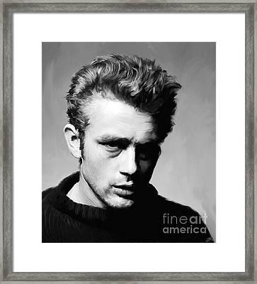 James Dean - Portrait Framed Print by Paul Tagliamonte