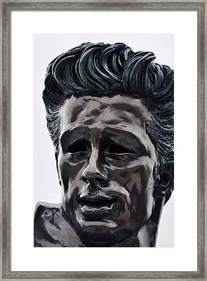 Framed Print featuring the photograph James Dean The Rebel by Kyle Hanson