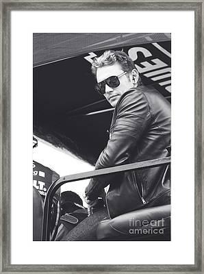 James Franco  Framed Print by Shanna Vincent