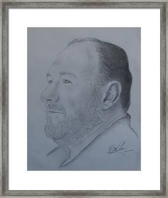 James Gandolfini Framed Print by Andrew Lahay