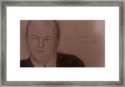 James Gandolfini Framed Print by Christopher Kyriss