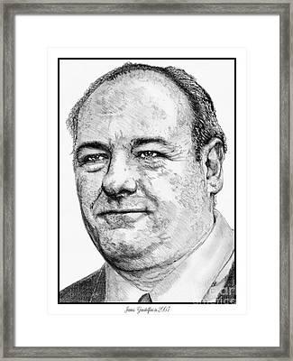 James Gandolfini In 2007 Framed Print by J McCombie