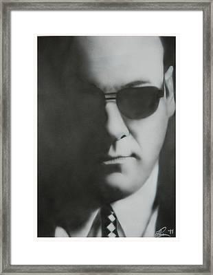 James Gandolfini/tony Soprano Framed Print