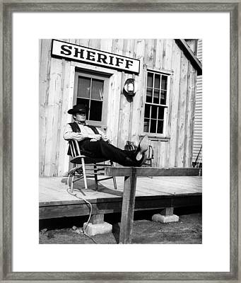James Garner In Support Your Local Sheriff!  Framed Print by Silver Screen