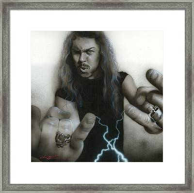 'james Hetfield' Framed Print by Christian Chapman Art