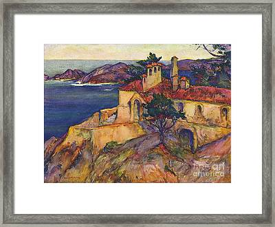 James House Carmel Highlands California By Rowena Meeks Abdy 1887-1945  Framed Print by California Views Mr Pat Hathaway Archives