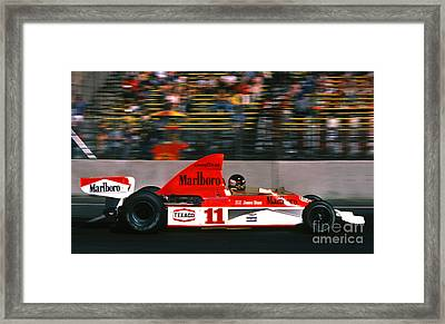 James Hunt - Long Beach Grand Prix 1976 Framed Print