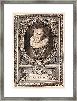 James I Framed Print by Middle Temple Library