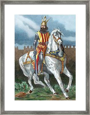 James I The Conqueror (1208-1276 Framed Print
