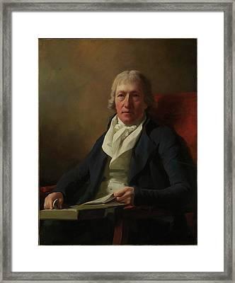 James Johnston Of Straiton Died 1841 Framed Print by Sir Henry Raeburn