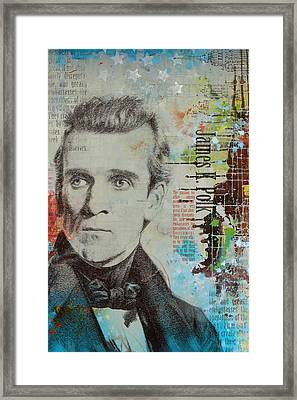 James K. Polk Framed Print by Corporate Art Task Force