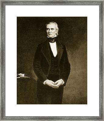 James K Polk  Framed Print by George Healy