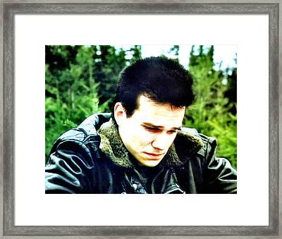 James Framed Print by Luis Ludzska