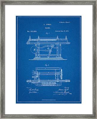 James Lyall Loom Patent Framed Print by Decorative Arts