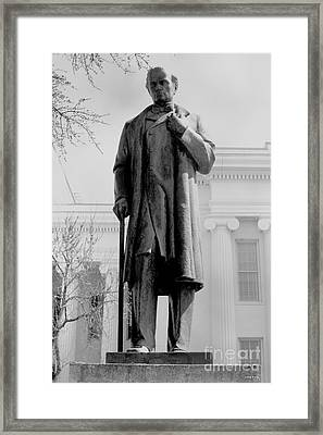 James M Sims State Capitol Bw Framed Print by Lesa Fine