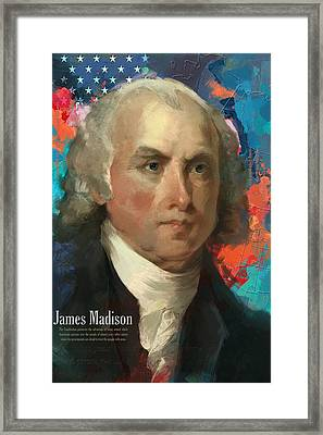 James Madison Framed Print by Corporate Art Task Force