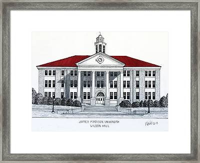 James Madison University Framed Print by Frederic Kohli