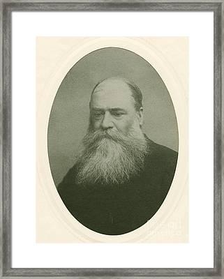 James Mills Peirce, Us Mathematician Framed Print
