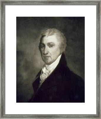 James Monroe Framed Print by American School