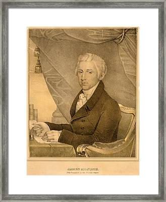 James Monroe, Fifth President Of The United States D Framed Print by Litz Collection