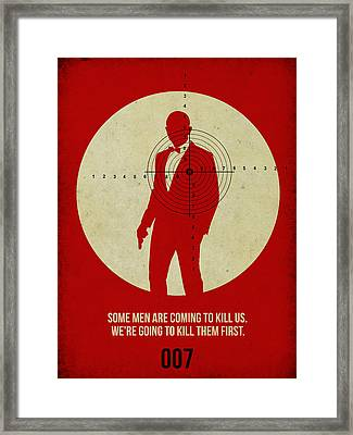 James Poster Red 3 Framed Print by Naxart Studio