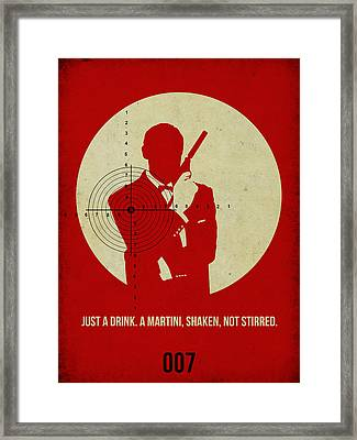 James Poster Red 4 Framed Print by Naxart Studio