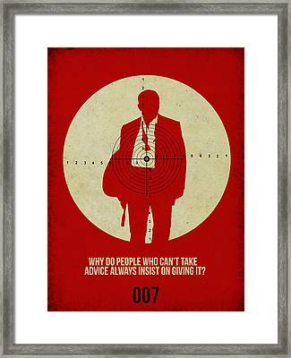 James Poster Red Framed Print by Naxart Studio