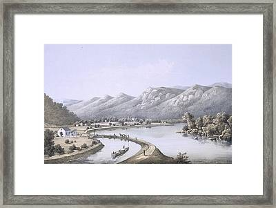 James River Canal Near The Mouth Framed Print by Edward Beyer