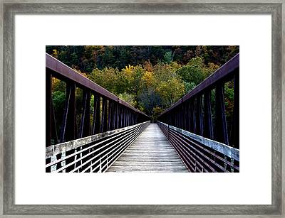James River Footbridge Framed Print by Cathy Shiflett