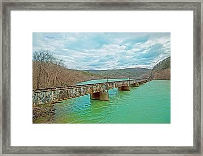James River Railroad Crossing Framed Print