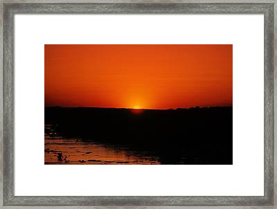 Framed Print featuring the photograph James River Sunset by John Harding