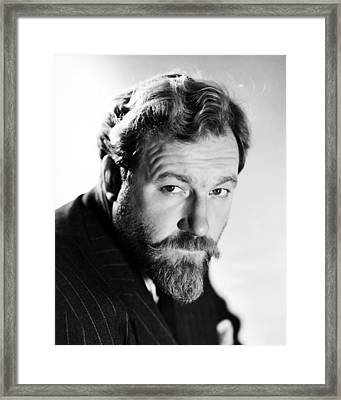 James Robertson Justice Framed Print by Silver Screen