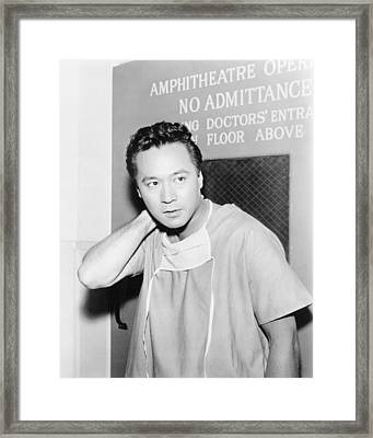 James Shigeta In Ben Casey  Framed Print by Silver Screen