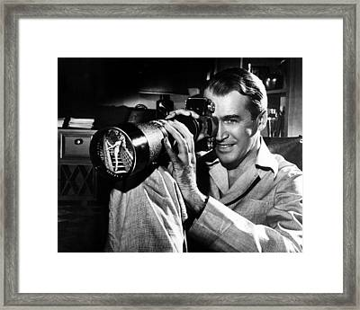 James Stewart In Rear Window  Framed Print by Silver Screen