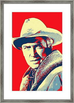 James Stewart In The Far Country Framed Print by Art Cinema Gallery