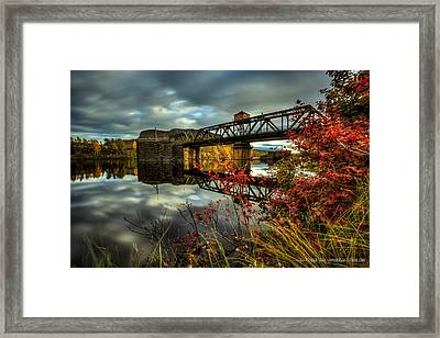 James Street Bridge A Severed Artery Framed Print