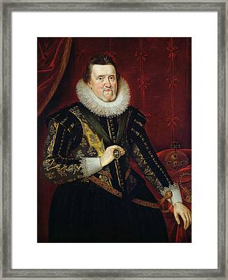 James Vi Of Scotland And I Of England And Ireland  1566-1625 Oil On Canvas Framed Print