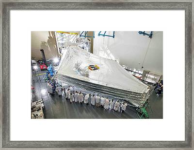 James Webb Space Telescope Sunshield Framed Print